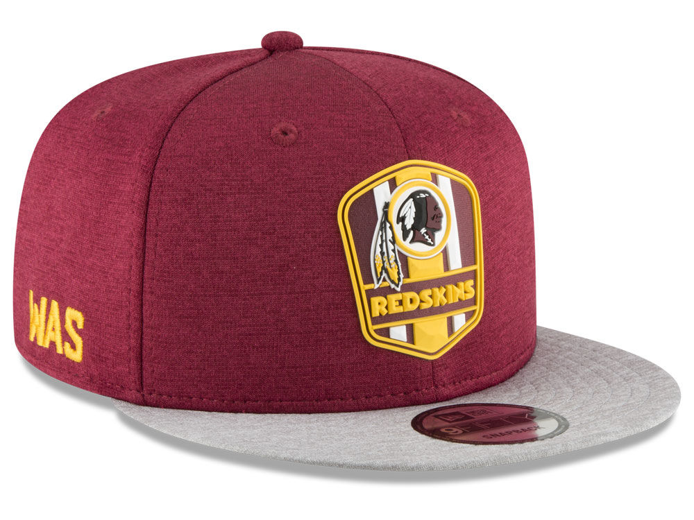 7db0d74d64dc9 Washington Redskins New Era 2018 Official NFL Sideline Road 9FIFTY Snapback  Cap
