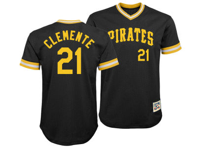 Pittsburgh Pirates Roberto Clemente Majestic MLB Youth Mesh V-Neck Player Jersey