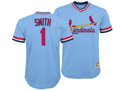 St. Louis Cardinals Ozzie Smith Majestic MLB Youth Mesh V-Neck Player Jersey