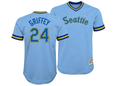Seattle Mariners Ken Griffey Jr. Majestic MLB Youth Mesh V-Neck Player Jersey
