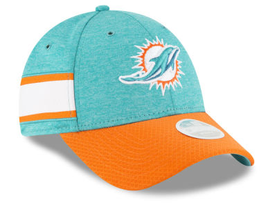 Miami Dolphins New Era 2018 Official NFL Women's Sideline Home 9FORTY Cap
