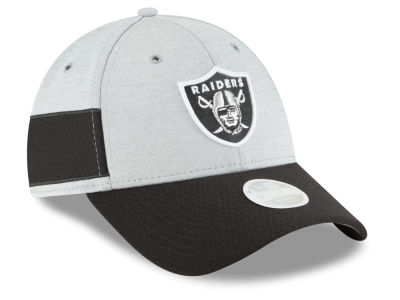 Oakland Raiders New Era 2018 Official NFL Women's Sideline Home 9FORTY Cap
