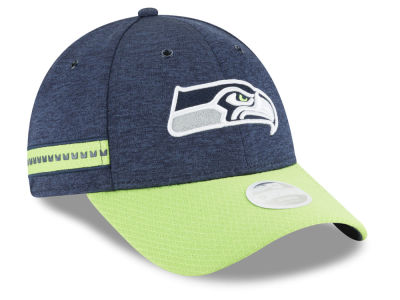 Seattle Seahawks New Era 2018 Official NFL Women's Sideline Home 9FORTY Cap