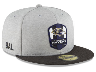 7960d97b4 Baltimore Ravens New Era 2018 Official NFL Kids Sideline Road 59FIFTY Cap
