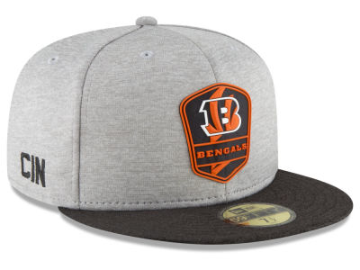 Cincinnati Bengals New Era 2018 Official NFL Kids Sideline Road 59FIFTY Cap