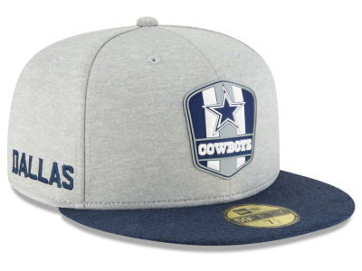 Dallas Cowboys New Era 2018 Official NFL Kids Sideline Road 59FIFTY Cap 07d2449d598