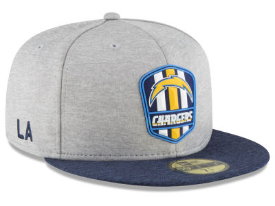 Los Angeles Chargers New Era 2018 Official NFL Kids Sideline Road 59FIFTY Cap