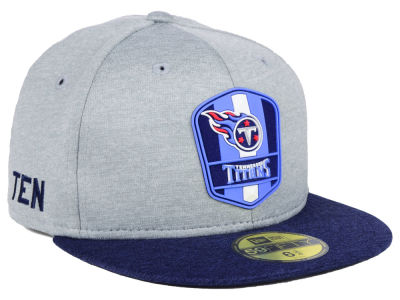 Tennessee Titans New Era 2018 Official NFL Kids Sideline Road 59FIFTY Cap b3f31e235