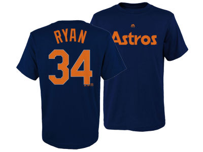 Houston Astros Nolan Ryan Majestic MLB Youth Official Player T-Shirt