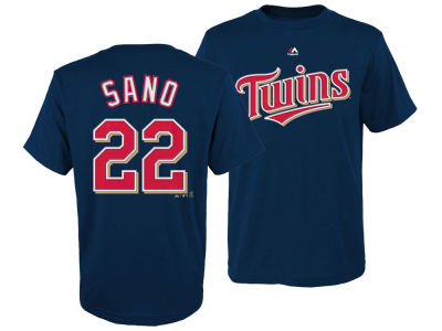 Minnesota Twins Miguel Sano Majestic MLB Youth Official Player T-Shirt