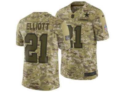 Dallas Cowboys Ezekiel Elliott Nike 2018 NFL Men's Salute To Service Jersey