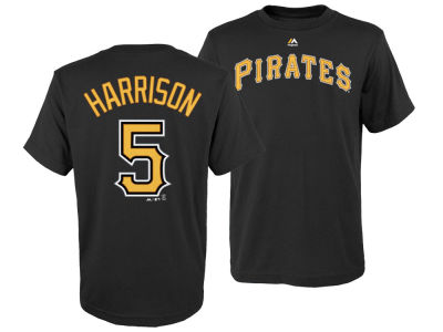 Pittsburgh Pirates Josh Harrison Majestic MLB Youth Official Player T-Shirt