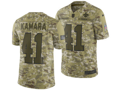 New Orleans Saints ALVIN KAMARA Nike 2018 NFL Men's Salute To Service Jersey