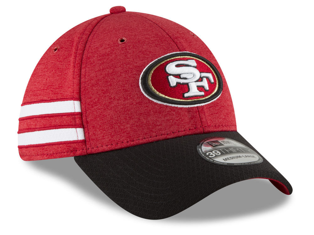 db32aa24935 San Francisco 49ers New Era 2018 Official NFL Kids Sideline Home 39THIRTY  Cap