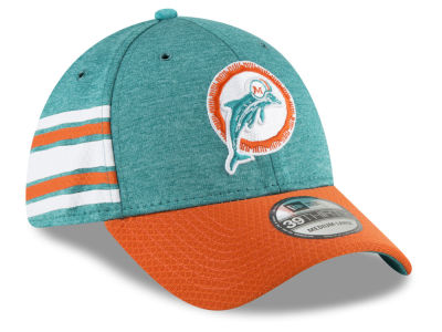 Miami Dolphins New Era 2018 Official NFL Kids Sideline Home 39THIRTY Cap