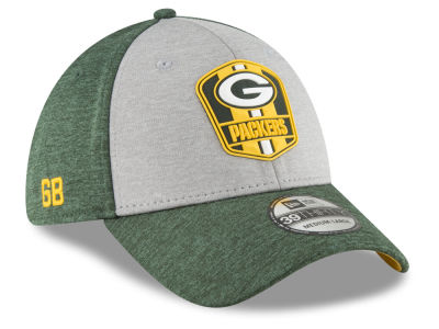 Green Bay Packers New Era 2018 Official NFL Kids Sideline Road 39THIRTY Cap