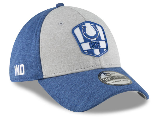 Indianapolis Colts New Era 2018 Official NFL Kids Sideline Road 39THIRTY Cap   39dba913338