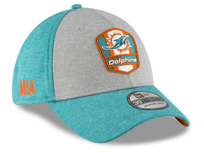 5803889bddb ... low cost miami dolphins new era 2018 official nfl kids sideline road  39thirty cap dfa27 f4924