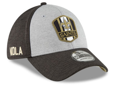 New Orleans Saints New Era 2018 Official NFL Kids Sideline Road 39THIRTY Cap