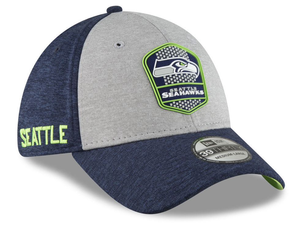 Seattle Seahawks New Era 2018 Official NFL Kids Sideline Road 39THIRTY Cap   06a2482be