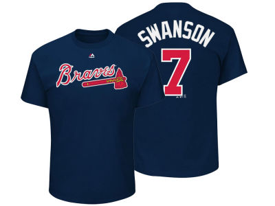 Atlanta Braves Dansby Swanson Majestic MLB Toddler Official Player T-Shirt