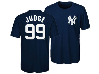 New York Yankees Aaron Judge Majestic MLB Youth Poly Player T-Shirt