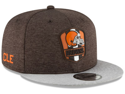 Cleveland Browns New Era 2018 Official NFL Kids Sideline Road 9FIFTY Snapback Cap