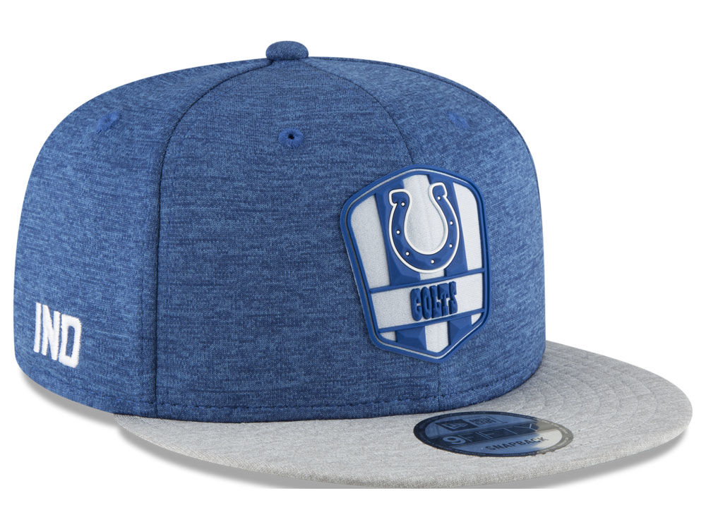 Indianapolis Colts New Era 2018 Official NFL Kids Sideline Road 9FIFTY  Snapback Cap  a8023894844d