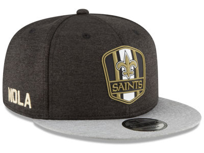 New Orleans Saints New Era 2018 Official NFL Kids Sideline Road 9FIFTY Snapback Cap