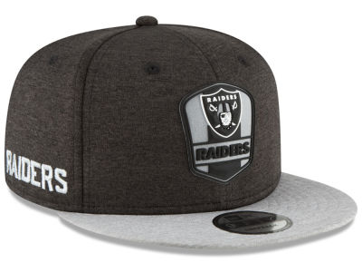 Oakland Raiders New Era 2018 Official NFL Kids Sideline Road 9FIFTY Snapback Cap