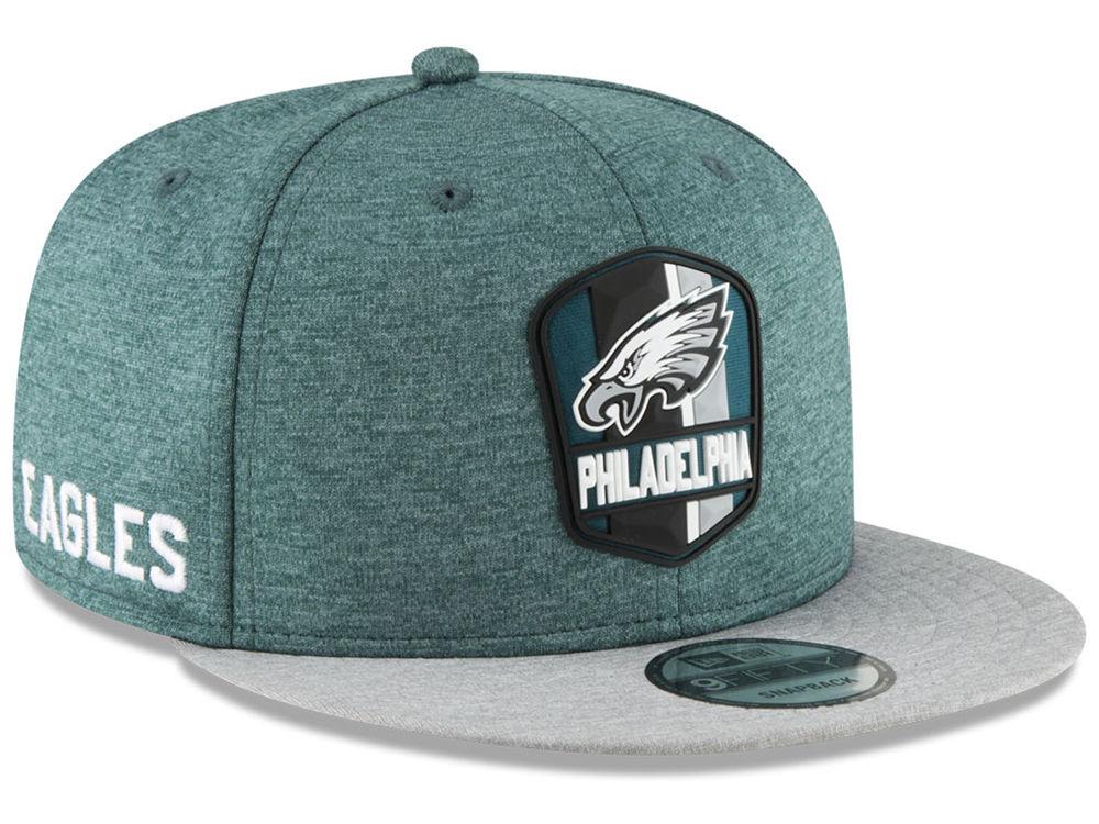 Philadelphia Eagles New Era 2018 Official NFL Kids Sideline Road 9FIFTY  Snapback Cap  dc1277433