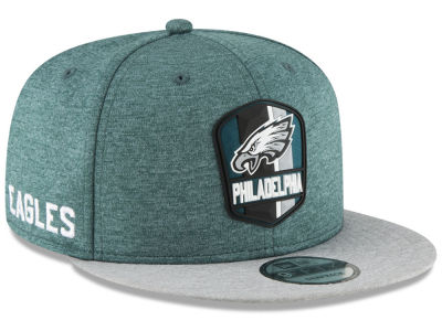 Philadelphia Eagles New Era 2018 Official NFL Kids Sideline Road 9FIFTY Snapback Cap