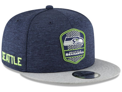 Seattle Seahawks New Era 2018 Official NFL Kids Sideline Road 9FIFTY  Snapback Cap 62b86432c