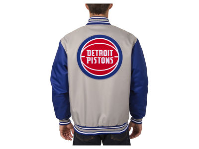 Detroit Pistons JH Design NBA Men's PolyTwill Jacket