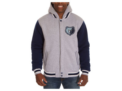Memphis Grizzlies JH Design NBA Men's Hooded Fleece Reversible Jacket