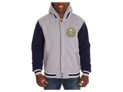 Denver Nuggets JH Design NBA Men's Hooded Fleece Reversible Jacket