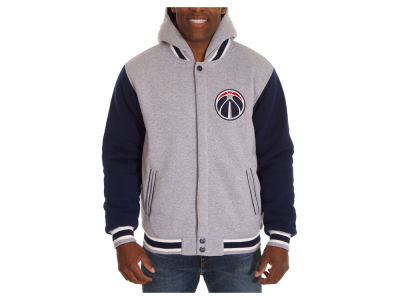 Washington Wizards JH Design NBA Men's Hooded Fleece Reversible Jacket