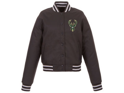 Milwaukee Bucks JH Design NBA Women's Polytwill Jacket