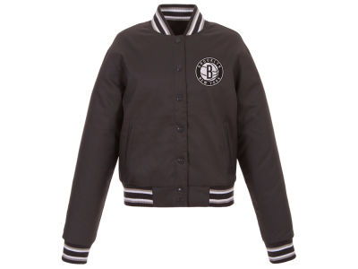 Brooklyn Nets JH Design NBA Women's Polytwill Jacket
