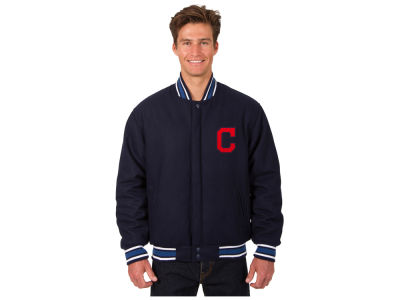 Cleveland Indians JH Design MLB Men's All Wool Reversible Jacket