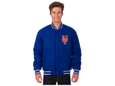 New York Mets JH Design MLB Men's All Wool Reversible Jacket