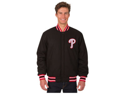 Philadelphia Phillies JH Design MLB Men's All Wool Reversible Jacket