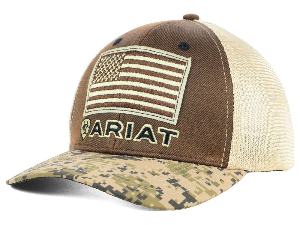 get ariat flag trucker cap da97b 5bc45