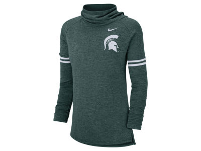 Michigan State Spartans Nike NCAA Women's Logo Funnel Neck Long Sleeve T-shirt