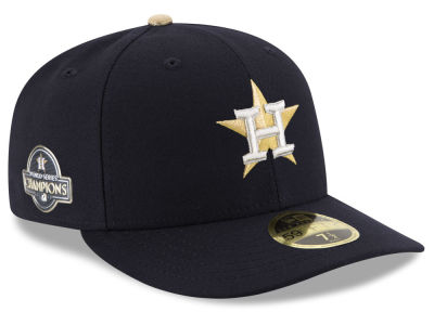 Houston Astros New Era MLB 2017 World Series Commemorative Gold Low Profile 59FIFTY Cap