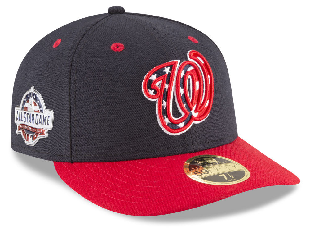 free shipping d544f bcb61 ... fitted denmark washington nationals new era 2018 mlb washington all  star game patch low profile 59fifty cap ...