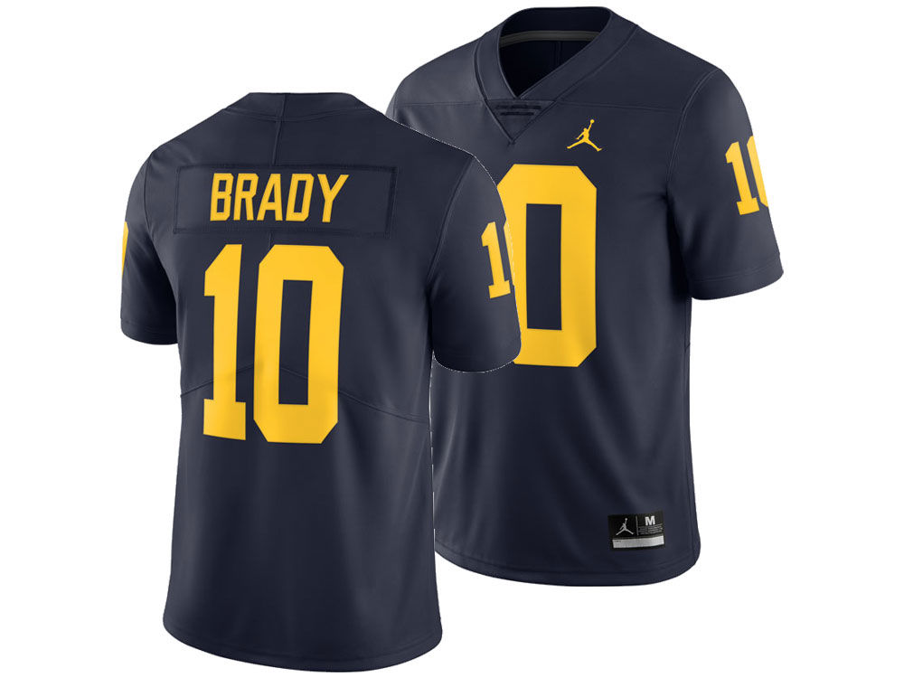 fa74946c4 Michigan Wolverines Tom Brady Nike NCAA Men s Limited Football Jersey