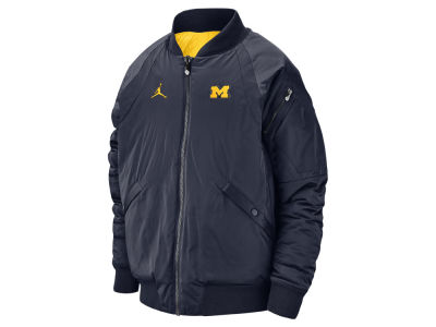Michigan Wolverines Jordan NCAA Men's Iconic Diamond Shape Bomber Jacket