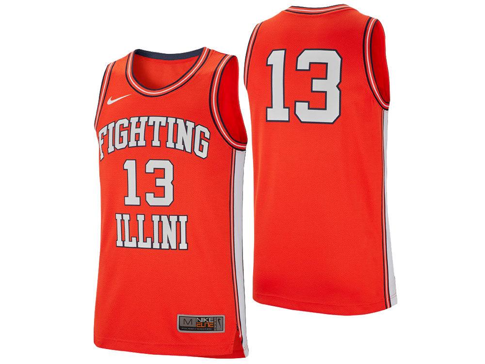 Illinois Fighting Illini Nike 2018 NCAA Men s Retro Basketball Jersey. Top.  Illinois ... ca61cf453