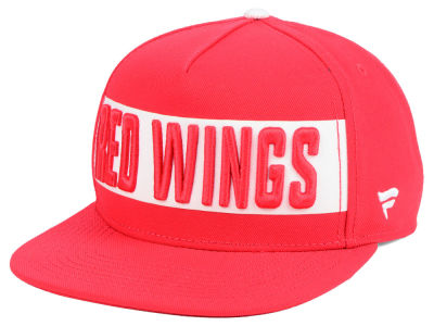 Detroit Red Wings NHL Iconic Facing Snapback Cap